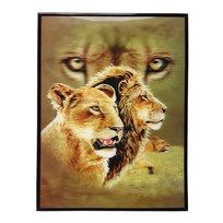 Картина с голограммой 30*40см ″Львы″ купить оптом и в розницу