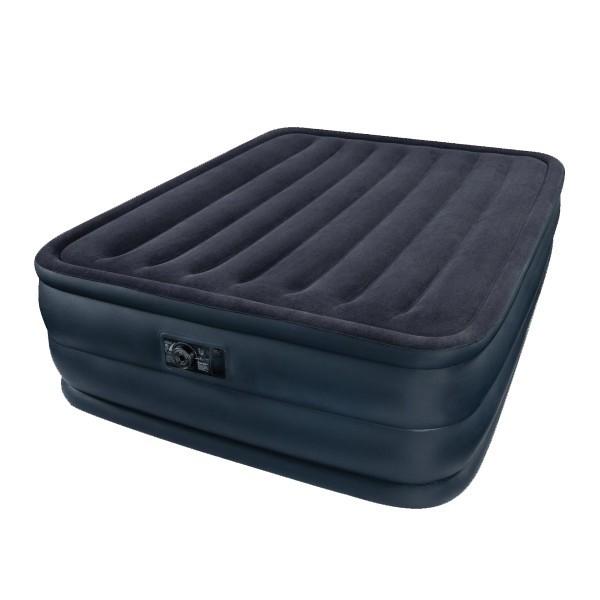 Кровать надувная Raised Downy,152*203*56 см,встроенный насос 220В,Intex (66718) купить оптом и в розницу