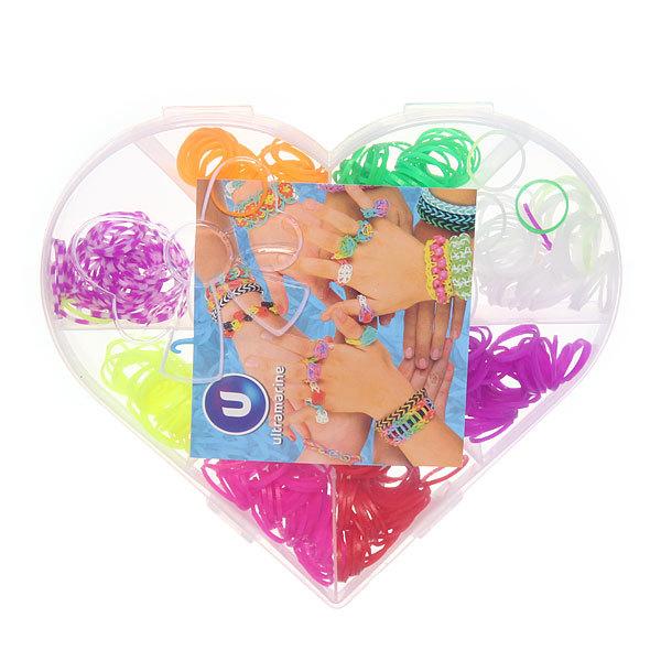 Набор резинок для плетения браслетов 500шт 8 цветов Сердце купить оптом и в розницу