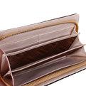 Кошелек женский ″Мелкая клетка″ цвет коричневый, 6 отделений 25,5*10 купить оптом и в розницу