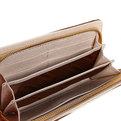 Кошелек женский ″Полоски″ 6отд. 25,5*10 коричневый цвет 464-11 купить оптом и в розницу