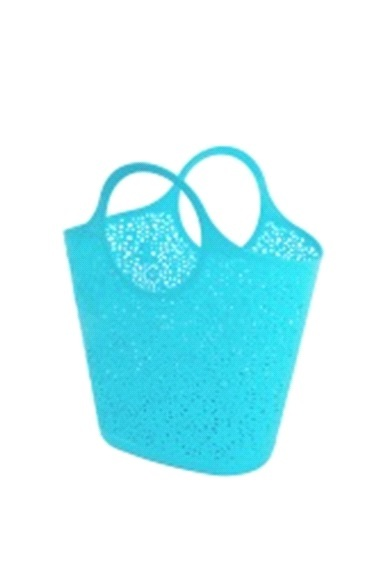 Сумка-корзинка кружевная  голубой *12 купить оптом и в розницу