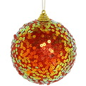 Новогодние шары ″Пайетки на рубине″ 10см (набор 2шт.) купить оптом и в розницу