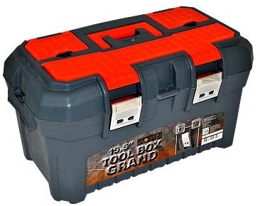 """Ящик для инструментов GRAND SOLID 19,5"""" черный/оранжевый *8 купить оптом и в розницу"""