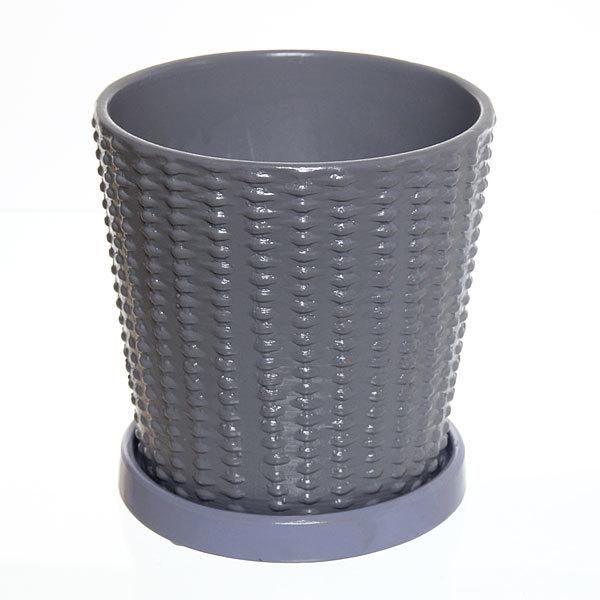Горшок для цветов керам 13,5х13,5 см с поддоном купить оптом и в розницу