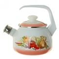 Чайник эмалированный 2,5л со свистком ″Итальянская кухня″ С-2711АП/7 купить оптом и в розницу