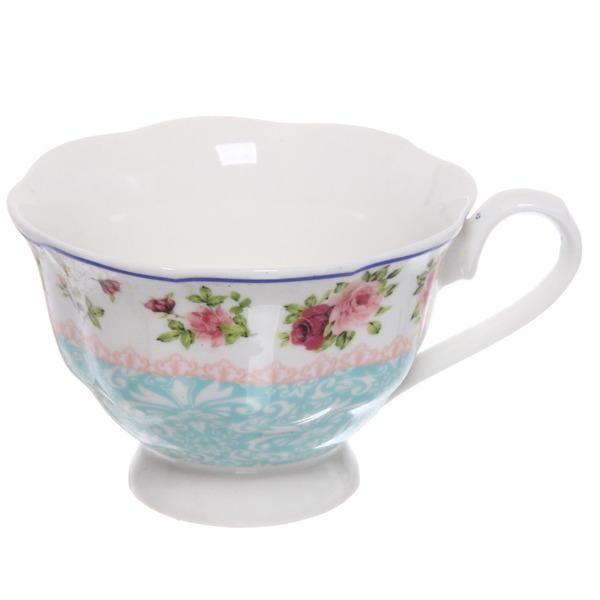 Чайный набор 4 предмета ″Романтика - 1″ (2кружки 180мл +2блюдца) купить оптом и в розницу