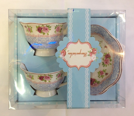 Чайный набор 4 предмета ″Романтика″ (2кружки 180мл +2блюдца) YOA1510-1 купить оптом и в розницу