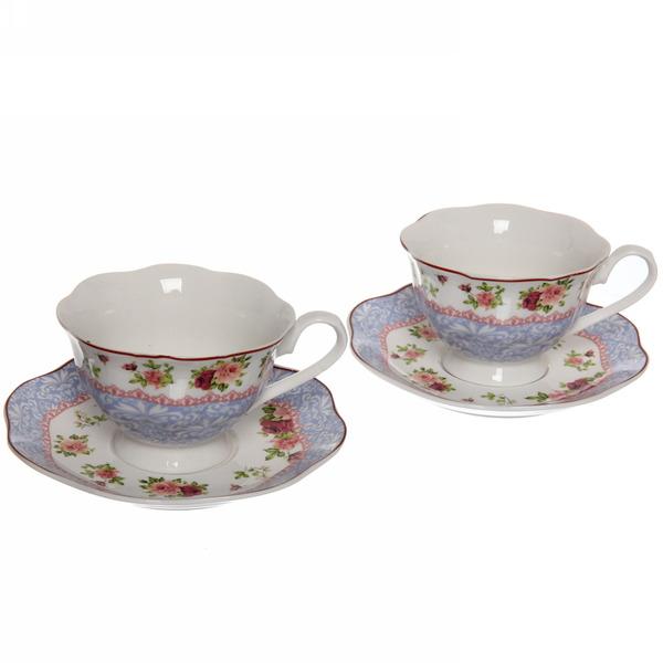 Чайный набор 4 предмета ″Романтика-2″ (2кружки 180мл +2блюдца) купить оптом и в розницу