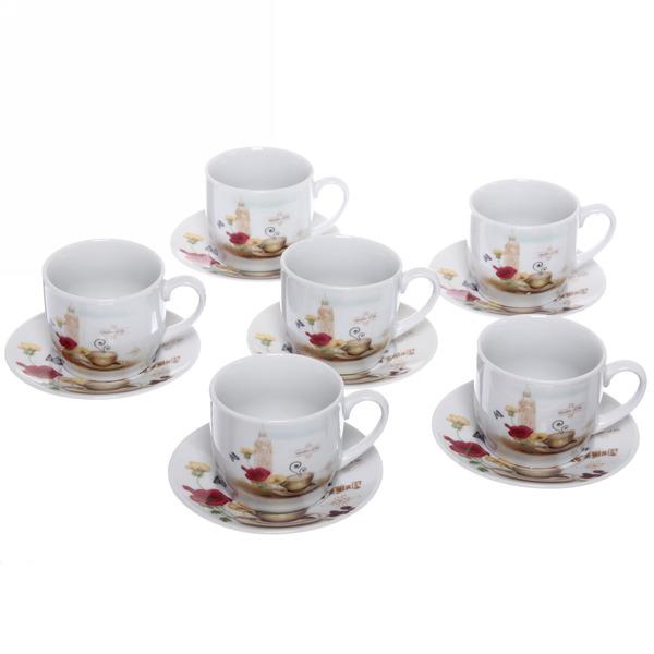 Чайный набор 12 предметов ″Романтика -4″ (6кружек 180мл +6блюдцев) купить оптом и в розницу