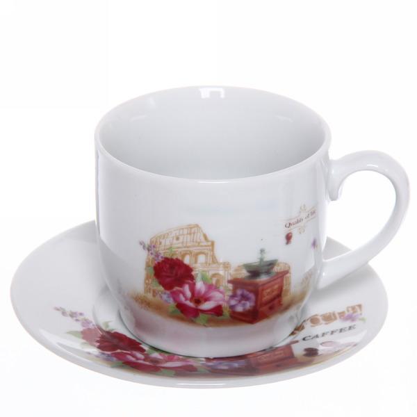 Чайный набор 12 предметов ″Романтика - 5″ (6кружек 180мл +6блюдцев) купить оптом и в розницу