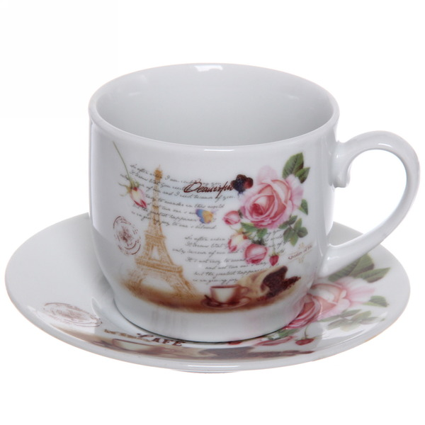 Чайный набор 12 предметов ″Романтика - 7″ (6кружек 180мл +6блюдцев) купить оптом и в розницу