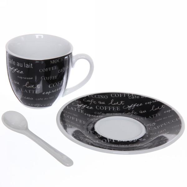 Чайный набор 12 предметов ″Кофейный аромат″ (4кружки 180мл +4блюдца+4ложки) 416-5 купить оптом и в розницу