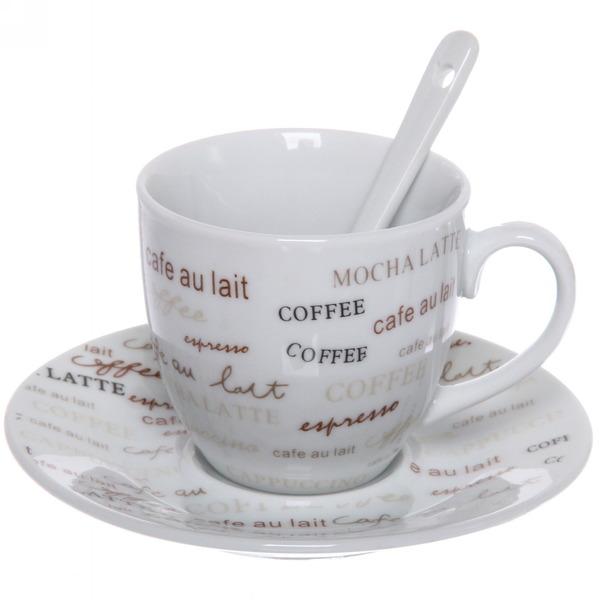 Чайный набор 12 предметов ″Кофейный аромат″ (4кружки 180мл +4блюдца+4ложки) 416-8 купить оптом и в розницу
