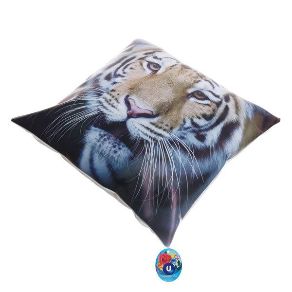 Подушка декоративная 44*44см ″Тигр″ искусственная кожа купить оптом и в розницу