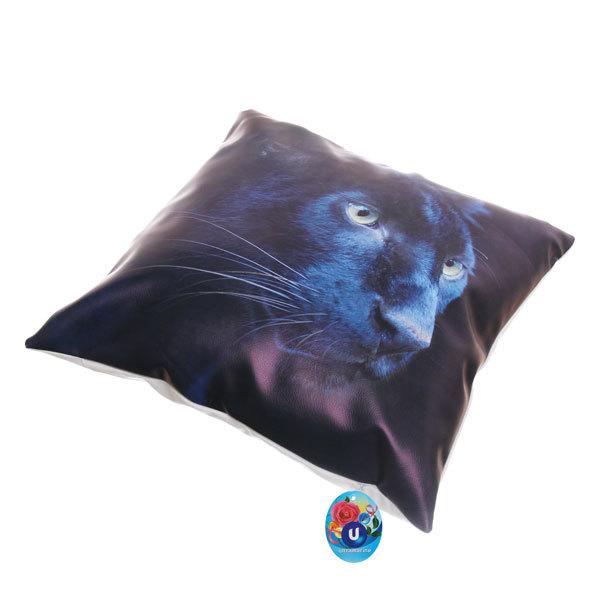 Подушка декоративная 44*44см ″Пантера″ искусственная кожа купить оптом и в розницу