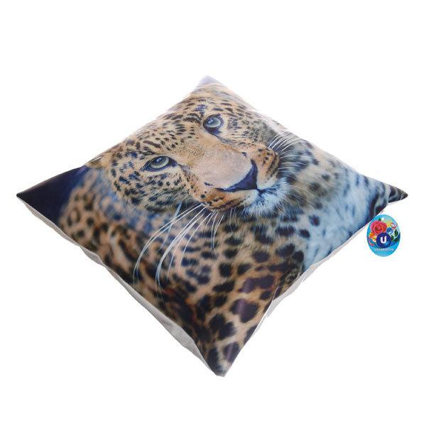 Подушка декоративная 44*44см ″Леопард″ искусственная кожа купить оптом и в розницу