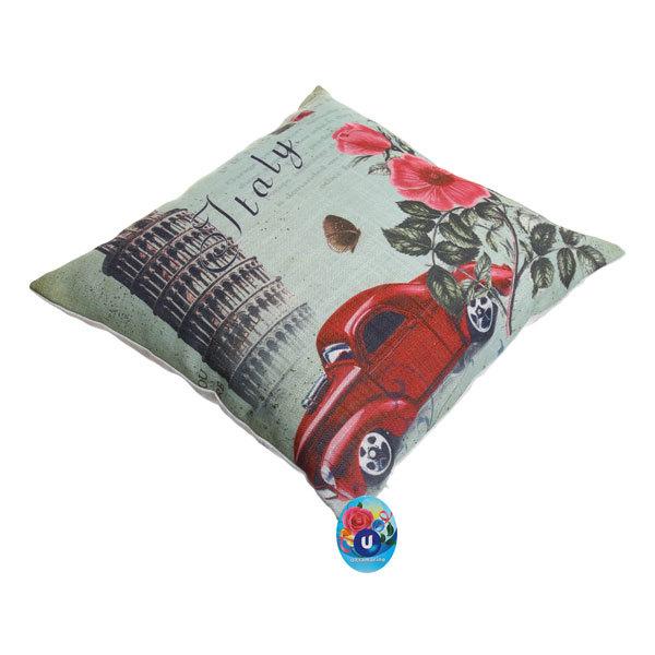 Подушка декоративная 44*44см ″Италия″ винтаж купить оптом и в розницу