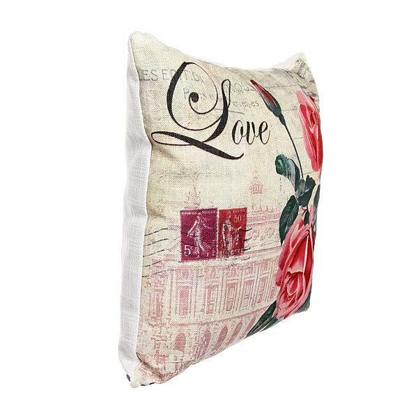 Подушка декоративная 44*44см ″Розы″ винтаж купить оптом и в розницу