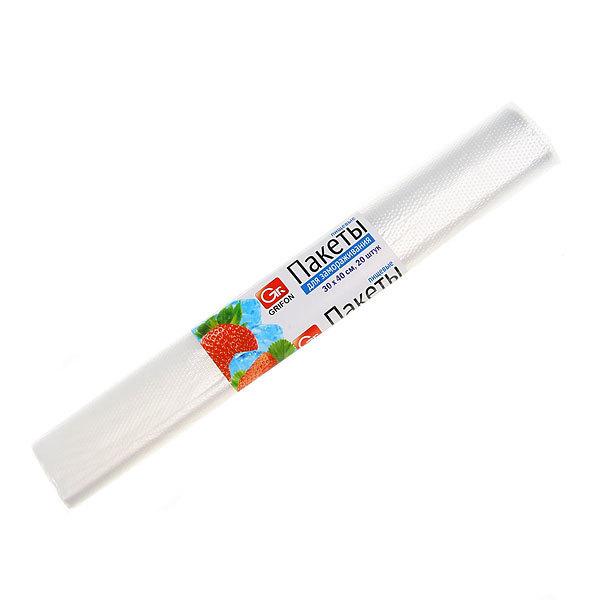 Пакеты для заморозки 6л (30 x 40 см, 18 мкм), 20 шт в рулоне GRIFON купить оптом и в розницу