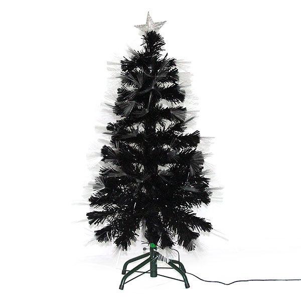 Елка светодиодная черная 90 см оптоволокно + 85 пучков купить оптом и в розницу