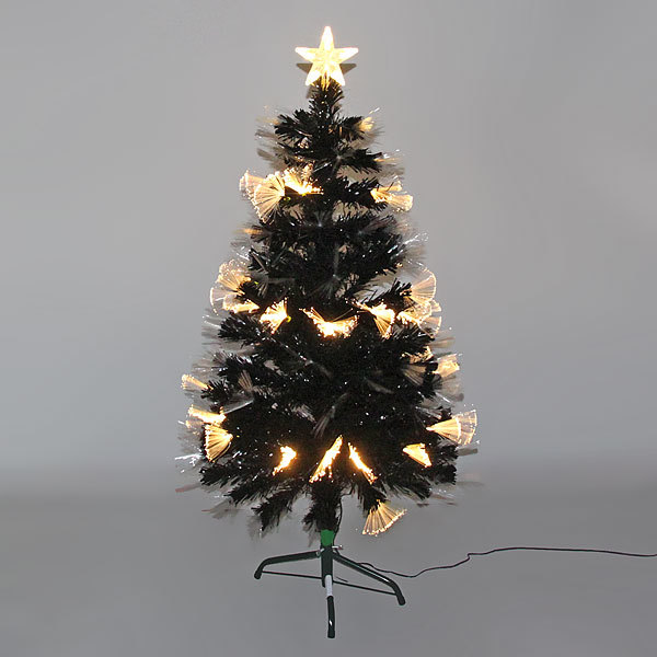 Елка светодиодная черная 120 см оптоволокно + 120 пучков купить оптом и в розницу