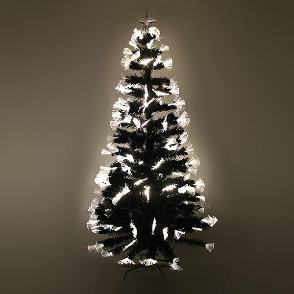 Елка светодиодная черная 150см оптоволокно + 160 пучков купить оптом и в розницу