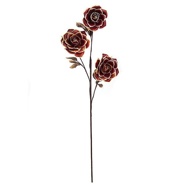 Цветок искусственный 80см ветка Розы А302 купить оптом и в розницу