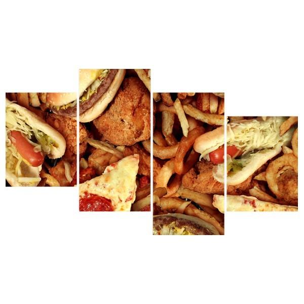 Картина модульная полиптих 60*129 Еда диз.9 26-03 купить оптом и в розницу