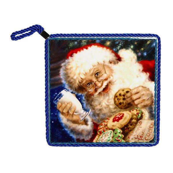 Подставка под горячее керамическая ″Дед Мороз″ 16*16 см в ассортименте купить оптом и в розницу