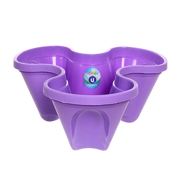 Кашпо для цветов садовое ″Фантазия″ 37х18см фиолетовый купить оптом и в розницу