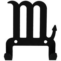 Крючок универсальный, серия ″Зодиак″, модель ″Скорпион символ - 2″, цвет черный купить оптом и в розницу