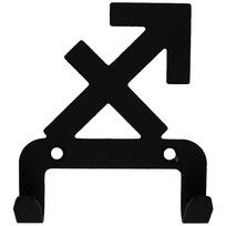 Крючок универсальный, серия ″Зодиак″, модель ″Стрелец символ - 2″, цвет черный купить оптом и в розницу