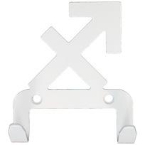 Крючок универсальный, серия ″Зодиак″, модель ″Стрелец символ - 2″, цвет белый купить оптом и в розницу