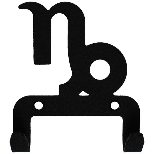 Крючок универсальный, серия ″Зодиак″, модель ″Козерог символ - 2″, цвет черный купить оптом и в розницу
