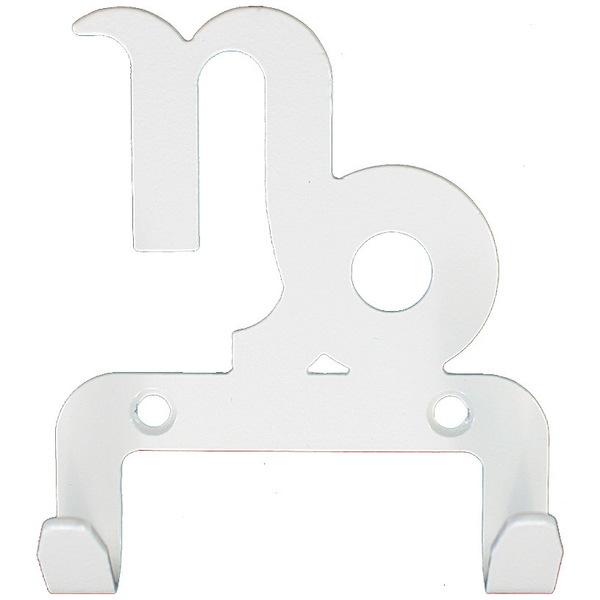 Крючок универсальный, серия ″Зодиак″, модель ″Козерог символ - 2″, цвет белый купить оптом и в розницу