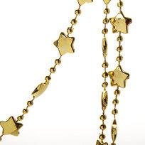 Бусы на ёлку золото 2,5м ″Звезды″ купить оптом и в розницу