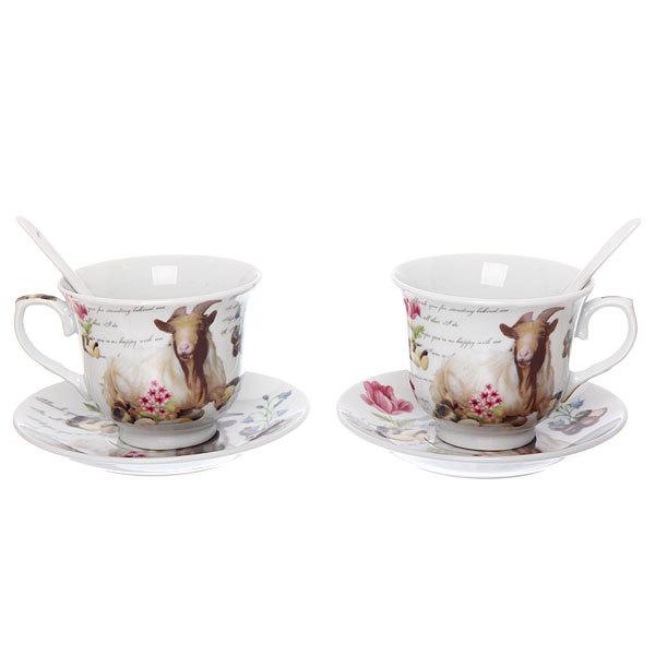 Чайный набор 4 предмета 180мл ″Овечки″ купить оптом и в розницу
