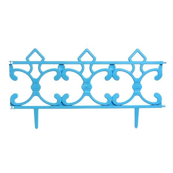 Забор декоративный ″Ковка″ 6 шт голубой 3,5м*0,225м купить оптом и в розницу