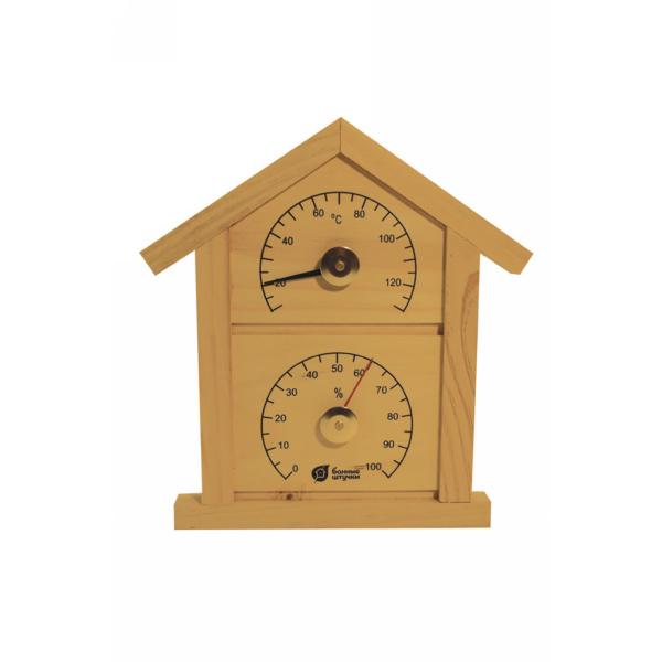 Термометр с гигрометром Банная станция ″Домик″ 23,6*22*1,9см 18023 купить оптом и в розницу