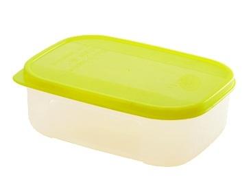 """Емкость для продуктов """"Bio"""" прямоугольная 0,2 л лимон *180 купить оптом и в розницу"""