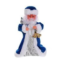 Дед Мороз музыкальный 30см с колокольчиком купить оптом и в розницу