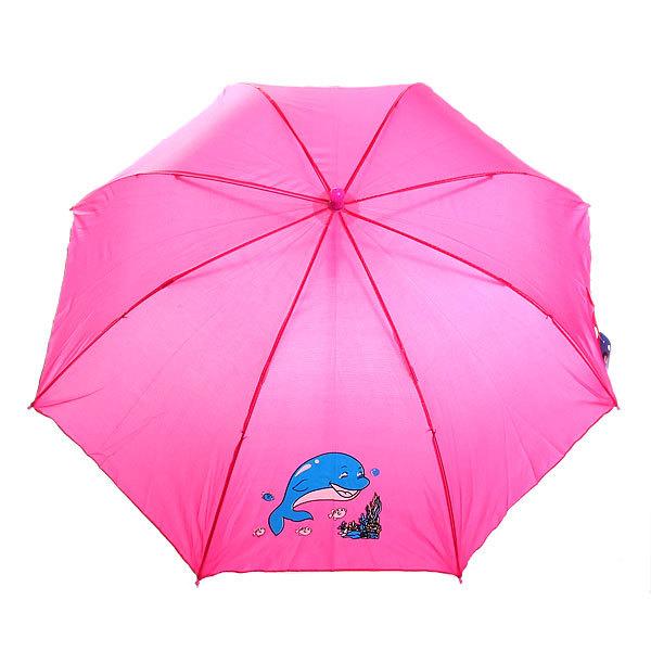 Зонт детский полуавтомат со свистком ″Дельфин″, 8 спиц, d-79см, длина в слож. виде 45см купить оптом и в розницу