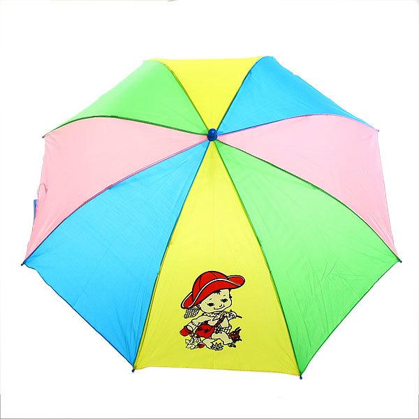 Зонт детский полуавтомат со свистком ″Радугас рисунком″ d-80см, длина в слож. виде 45см купить оптом и в розницу