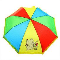 Зонт детский полуавтомат со свистком ″Радуга с ажуром″, 8 спиц, d-78см, длина в слож. виде 45см купить оптом и в розницу