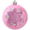 Новогодние шары ″Сладкие снежиночки″ 8см (набор 3шт.) купить оптом и в розницу