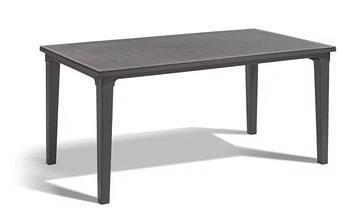 Стол  (искусственный ротанг)FUTURA 170x100x240 серый купить оптом и в розницу