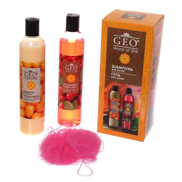Подарочный набор женский ″Питание и свежесть″ (шампунь и гель для душа) Geo купить оптом и в розницу
