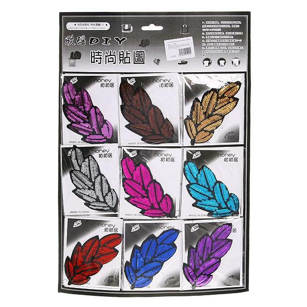 Аппликация ″Листик″ (термо, пришивная) 9шт 408-12 купить оптом и в розницу