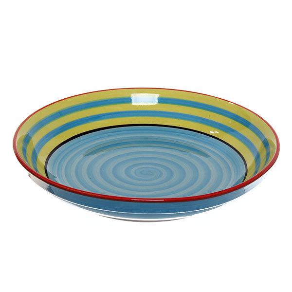 ″Радуга синяя″ Салатник керамический 18,5*3,5см 35430-56 купить оптом и в розницу